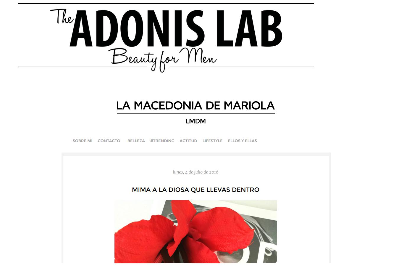 Hablan de nosotros en The Adonis Lab y La Macedonia de Mariola